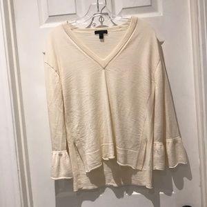 J.Crew vneck bell sleeved sweater SZ medium